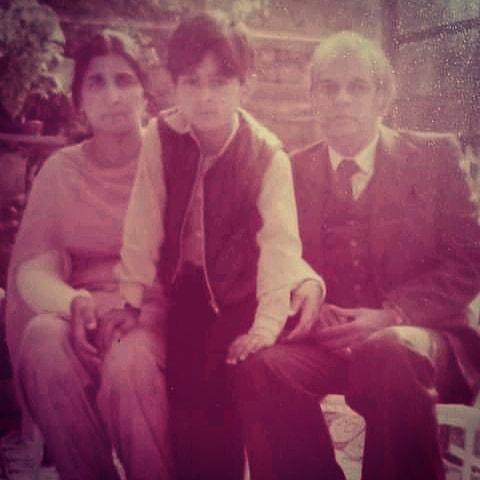A young Kal Sabir with his parents.