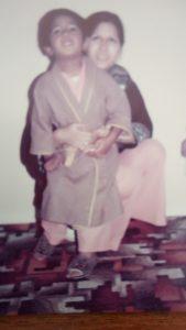 A young Kal Sabir with his sister.