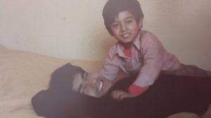 A young Kal Sabir with his brother.