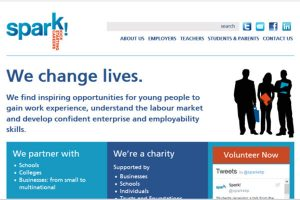 Screenshot of 'Spark!' website, competition organisers for which 'Jasmine' was winner.