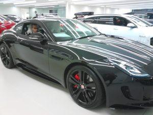 Kal Sabir in a car by Jaguar