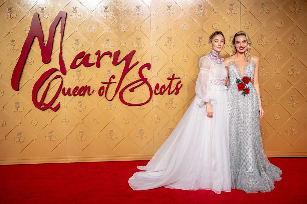 Saiorse Ronan and Margot Robbie at the European Premiere in London