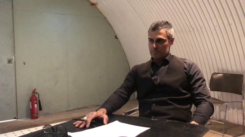 Kal Sabir recording a selftape.